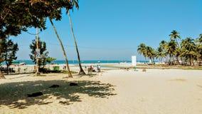 在印地安vacatiom期间的海滨 库存照片