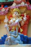 在印度寺庙的图 Janardana偶象寺庙 瓦尔卡拉寺庙 免版税库存图片