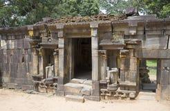 在印度寺庙的废墟希瓦(希瓦Devale) Polonnaruwa,斯里兰卡 免版税库存照片