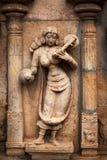 在印度寺庙的Bas reliefes。泰米尔纳德邦,印度 免版税库存图片