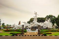 Satria gatotkaca雕象,巴厘岛 免版税库存照片