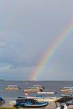 在印度洋的彩虹 免版税库存照片