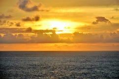 在印度洋的美好的日落 库存照片