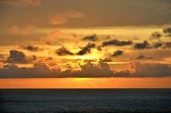 在印度洋的美好的日落 库存图片