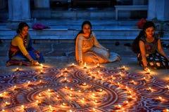 在印度的屠妖节节日 库存图片