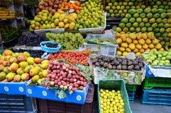 在印度的果子摊位 免版税库存照片