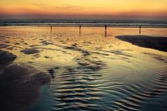 在印度洋的日落 免版税库存照片