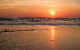 在印度洋的日落 库存图片
