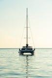 在印度洋的消遣游艇 免版税图库摄影