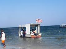 在印度洋蒙巴萨的小船 免版税库存图片