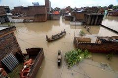 洪水在印度 免版税图库摄影