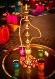 在印第安婚礼的水烟筒 免版税库存图片