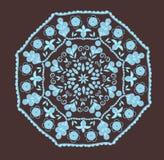 在印第安样式的抽象设计 免版税库存照片