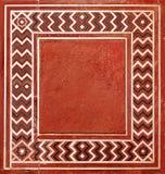 在印第安样式的框架从自然石头 免版税库存照片