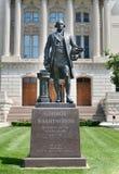 在印第安纳州议会议场的乔治・华盛顿雕塑 库存图片