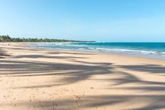 在印象深刻的天堂海滩的美好的天在Marau 免版税图库摄影