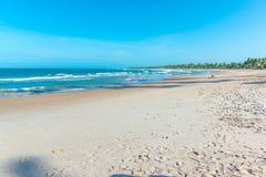 在印象深刻的天堂海滩的美好的天在Marau 库存图片