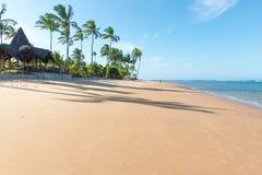 在印象深刻的天堂海滩的美好的天在Marau 免版税库存图片