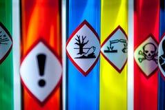在危害的焦点对环境危险 库存图片