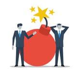 在危机的业务管理 免版税库存图片