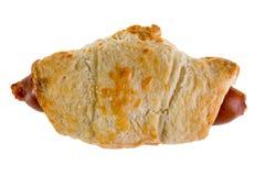 在卷烘烤的芬芳香肠 免版税图库摄影