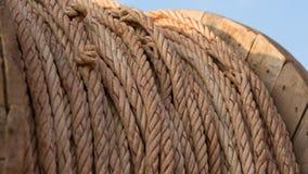 在卷的绳索建筑的 免版税库存照片