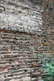 在历史大厦的砖墙 免版税库存照片