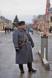 在历史服装的卫兵 免版税图库摄影