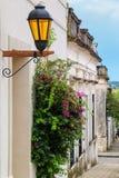 在历史的处所的街灯科洛尼亚德尔萨克拉门托, Urugu 免版税库存图片