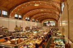 在历史的西边市场里面在克利夫兰 免版税库存图片