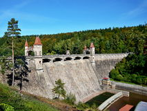 在易北河的捷克共和国水坝 免版税库存照片
