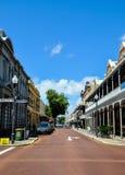 在历史的Fremantle的街道透视 库存图片