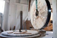 在原处磨房的石头 免版税库存图片
