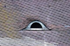 在原始的表现的有趣的旅馆屋顶 免版税图库摄影