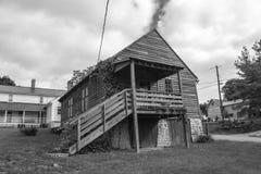 在原野路足迹的历史的结构 免版税库存照片