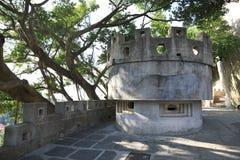 在厦门鼓浪屿海岛上的地堡  免版税库存图片