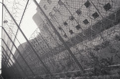 在厨师县监狱的铁丝网, 库存照片