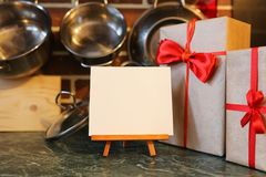 在厨房的不同的对象 免版税库存图片