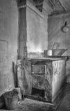 在厨房的火炉 图库摄影
