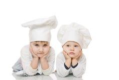 在厨房里帮忙的仆人 库存图片