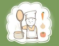 在厨房里帮忙的仆人 免版税库存照片