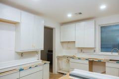 在厨房里,正方形为设施是正方形删节 免版税库存照片