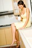 在厨房里 免版税库存照片