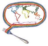 在叉子的世界 图库摄影