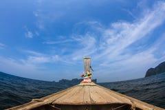 在发埃发埃海岛的小船旅行 免版税库存图片