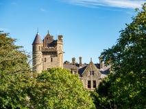 在发辫,北爱尔兰,英国中的贝尔法斯特城堡 免版税库存照片