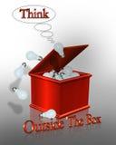 在口号之外的配件箱商业认为 免版税库存照片