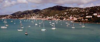 在口岸在圣托马斯, U S 处女的海岛 免版税库存图片