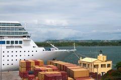在口岸的巡航划线员 地亚哥Surez,马达加斯加 免版税库存图片