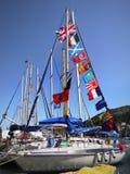 在口岸的帆船 图库摄影